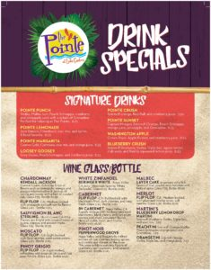 The Point at Lake Gaston Drinks Specials